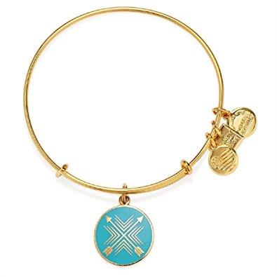 Buy Alex and Ani Arrows of Friendship Bangle in Shiny Gold