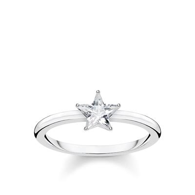 Buy Thomas Sabo Silver Star Ring 52