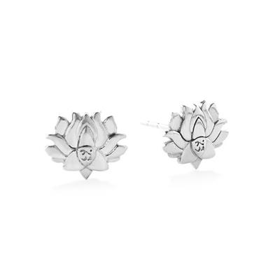 Buy Alex and Ani Lotus Peace Petals Precious Studs in Silver