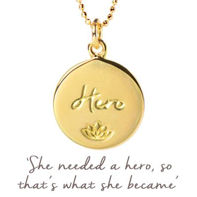Buy Mantra Julie Montagu Hero Disc Necklace in Gold
