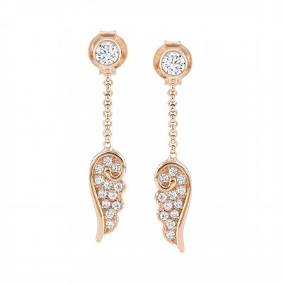 Buy Nomination Rose Gold CZ Angel Wind Drop Earrings