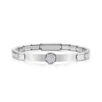 Buy Nomination Pave Circle Stainless Steel Bracelet