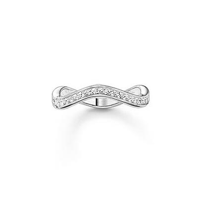 Buy Thomas Sabo The Eternity of Love Wave Ring, Silver Size 52