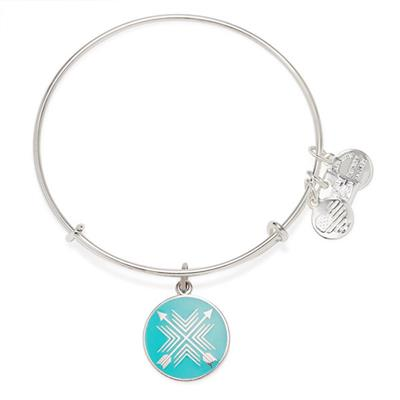 Buy Alex and Ani Arrows of Friendship Bangle in Shiny Silver