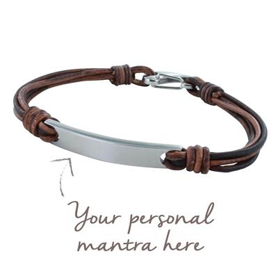 Buy MyMantra myMantra Personalised Men's Bracelet - Brown Multi-strand Leather