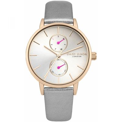 Buy Daisy Dixon Mia Grey Rose Gold Pearl Watch
