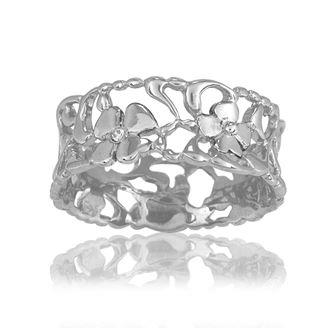 Buy Blossom Thin Foliage Ring Size P
