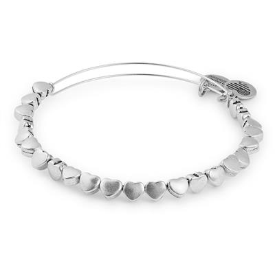 Buy Alex and Ani Heart Beaded Bangle in Rafaelian Silver