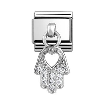 Buy Nomination Hanging CZ Silver Hand of Fatima