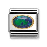 Buy Nomination Green Oval Opal Link