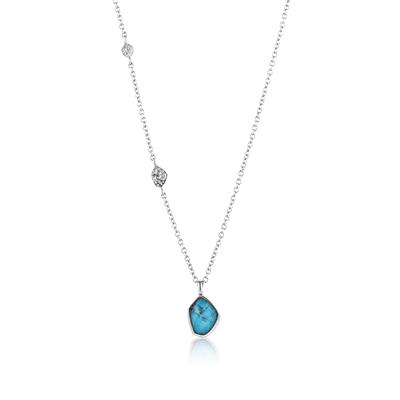 Buy Ania Haie Silver Turquoise Pendant Necklace