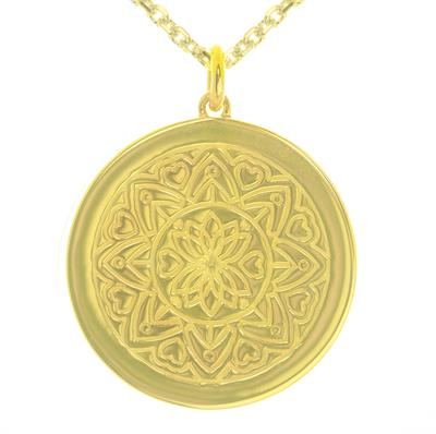 Buy MyMantra Love Mandala Yellow Gold Personalised Necklace 80cm