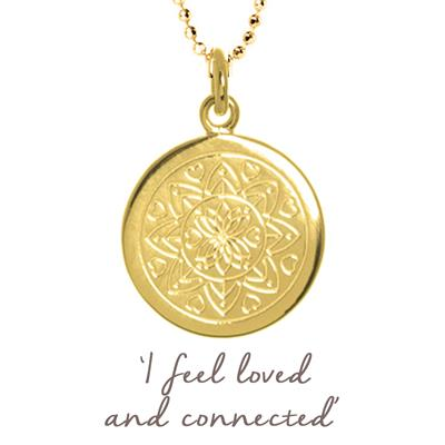 Buy Mantra Love Mandala Necklace in Gold