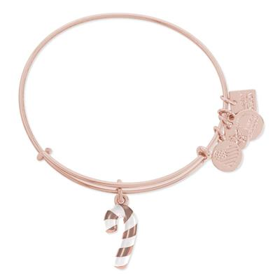 Buy Alex and Ani Candy Cane bangle in Shiny Rose Gold