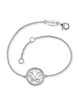 Buy Engelsrufer Silver CZ Lotus Disc Bracelet