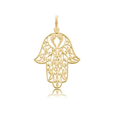 Buy Engelsrufer Gold Hand of Fatima Pendant Small