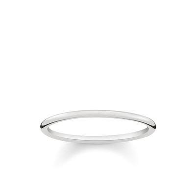 Buy Thomas Sabo Slim Silver Plain Ring 58