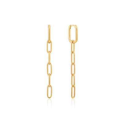 Buy Ania Haie Chain Reaction Long Gold Cable Link Earrings