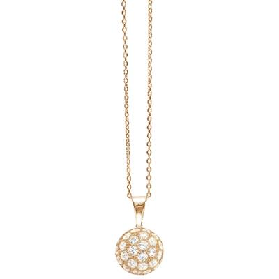 Buy Tresor Paris Allure Rose Gold & White Crystal Orb Necklace