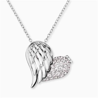 Buy Engelsrufer Silver CZ Heart Wing Necklace