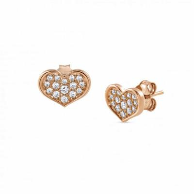 Buy Nomination Rose Gold Pave Heart Earrings