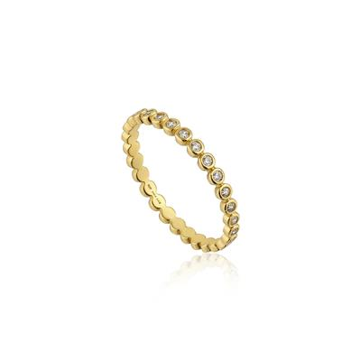 Buy Ania Haie Touch of Sparkle Gold Plated CZ Band Ring (56)