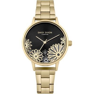 Buy Daisy Dixon Laura Yellow Gold Flower Watch