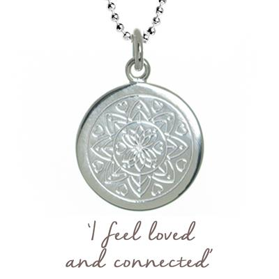 Buy Mantra Love Mandala Necklace in Silver