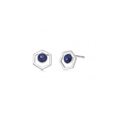 Buy Daisy Lapis Lazuli Healing Stone Stud Earrings