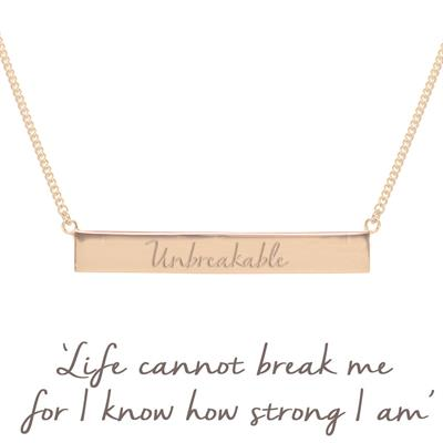 Buy Mantra Holly Matthews Unbreakable Bar Necklace in Rose Gold