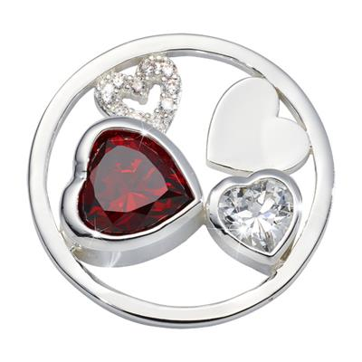 Buy Nikki Lissoni Silver My Love Is Pure Coin 33mm