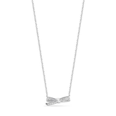 Buy Nomination Silver CZ Bow Necklace