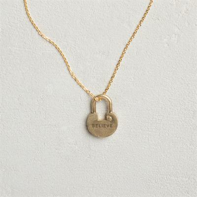 Buy Giving Keys Believe Padlock, Short Dainty Gold