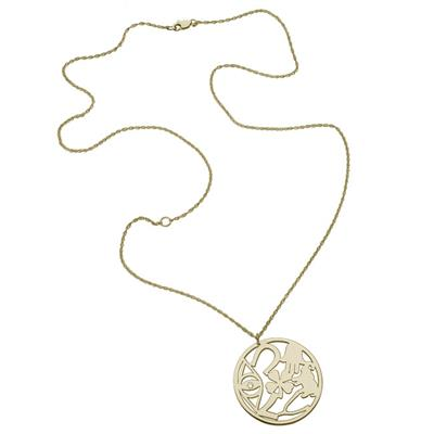 Buy Jennifer Zeuner Eden Good Luck Disc Necklace in Gold