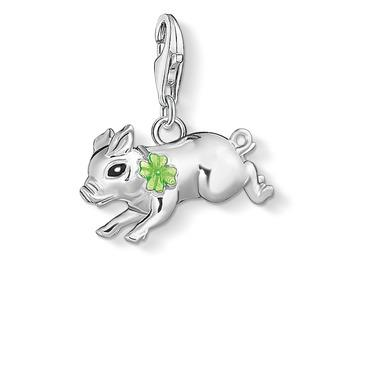 Buy Thomas Sabo Silver Pig With Clover Charm
