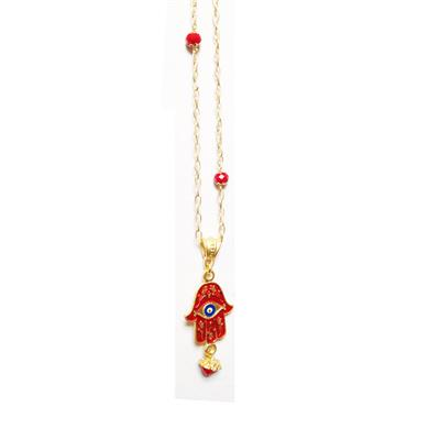 Buy Diana Wilson Red Enamel Hamsa Necklace
