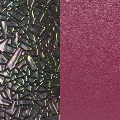 Buy Les Georgettes Wide Broken Glass Petrol / Cerise Leather