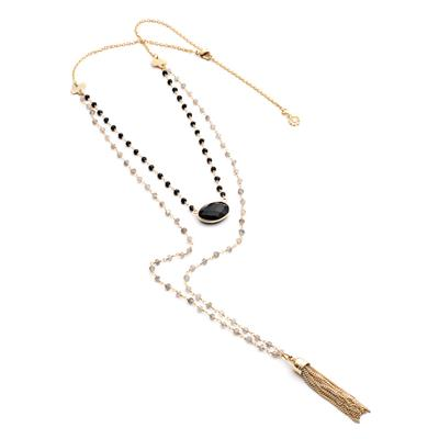 Buy Azuni Evania Labradorite and Black Onyx Necklace