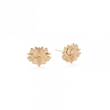 Buy Alex and Ani Lotus Peace Petals Precious Studs in Gold