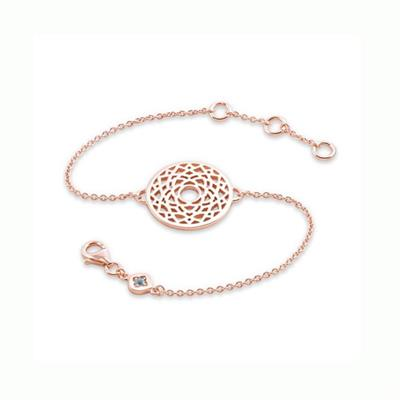 Buy Daisy Crown Chakra Rose Gold Chain Bracelet