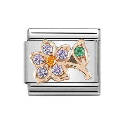 Buy Nomination Rose Gold CZ Lilac Flower Charm