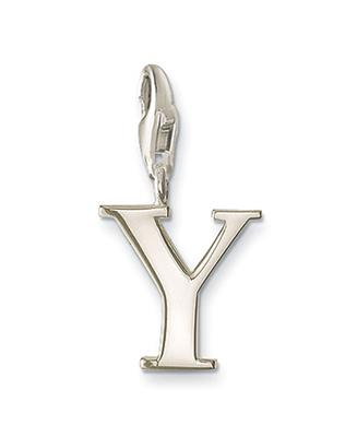 Buy Thomas Sabo Silver Letter Y Charm