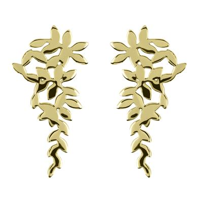 Buy Sara Miller Large Gold Leaf Cluster Studs