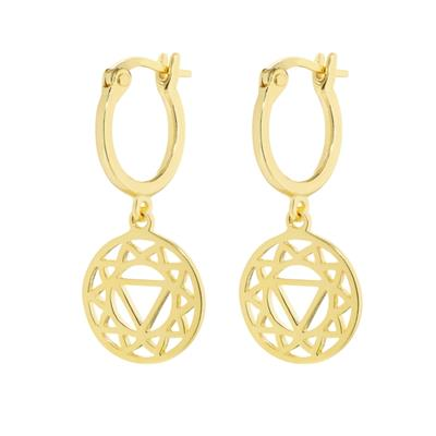 Buy Daisy Solar Plexus Chakra Gold Drop Earrings