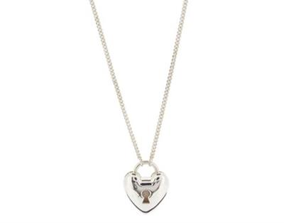Buy Dinny Hall Silver Heart Padlock Pendant