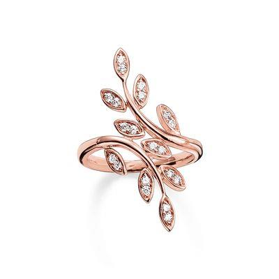 Buy Thomas Sabo Laurel Wreath Rose Gold Ring, Size 54