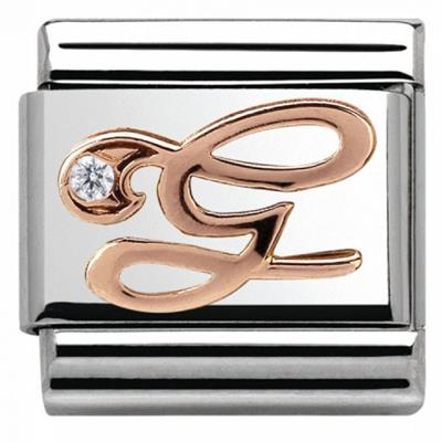 Buy Nomination Rose Gold CZ Letter G