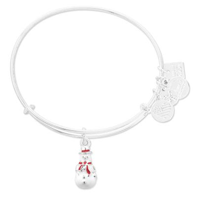 Buy Alex and Ani Snowman bangle in Shiny Silver