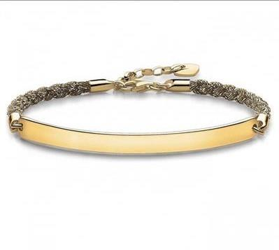 Buy Thomas Sabo Magic Love Bridge Bracelet Gold 18cm