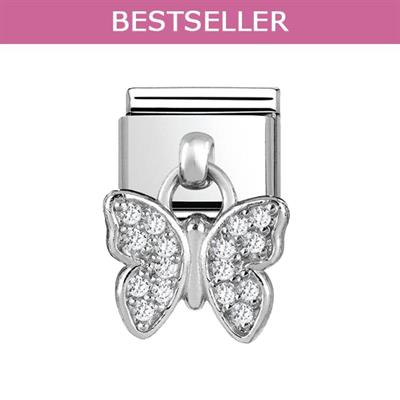 Buy Nomination Hanging CZ Silver Butterfly